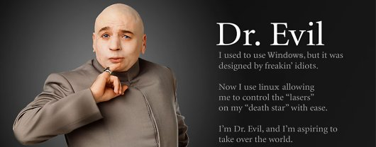 Dr Evil on Linux