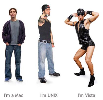 Mac, UNIX, Vista
