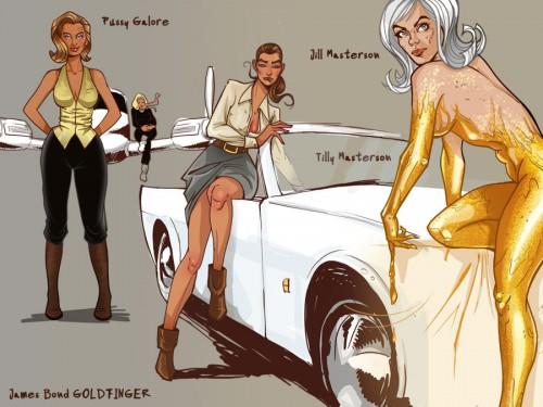 Goldfinger-girls